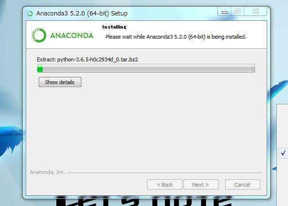 Anacondaインストール